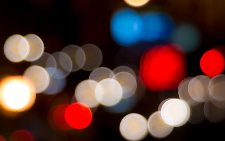 colourful lightings: Nice abstract colorful bokeh light at night Stock Photo
