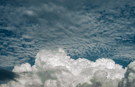 Nice clouds in blue sky, Nature background Фото со стока