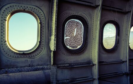 Window of plane wreck, Inside