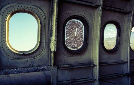 Window of plane wreck, Inside Stock fotó