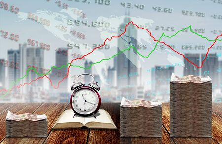 Learning to make profit from stock market concept background