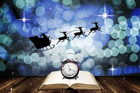 Time for Santa Claus story in Christmas night