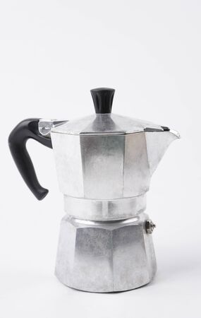 Moka pot isolated on white background