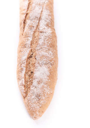Long loaf isolated on white background Foto de archivo