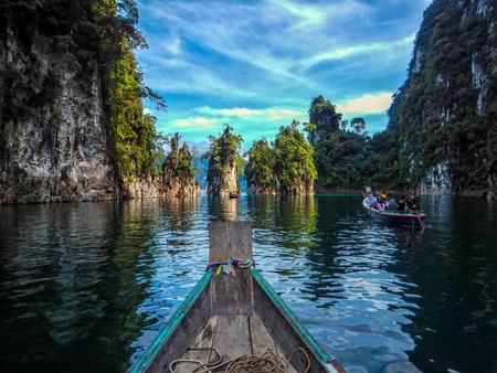 sok: Three rocks in Cheow Lan Lake, Khao Sok National Park at Suratthani,Thailand