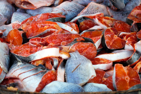 singburi: Colorful (Red) Slice fish , Sing-Buri, Thailand