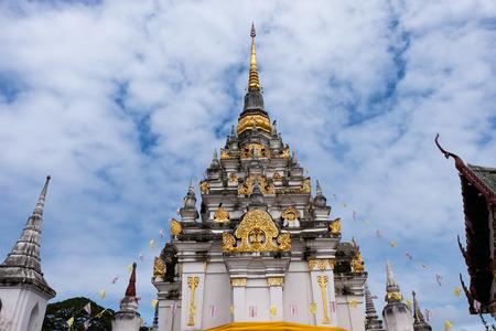 surat: The old pagoda at Wat Phra Borommathat Chaiya Ratchaworawihan Surat thani province, thailand Stock Photo