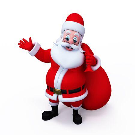 blanck: santa pointing to the blanck space
