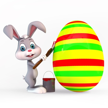 huevo caricatura: Conejo de Pascua