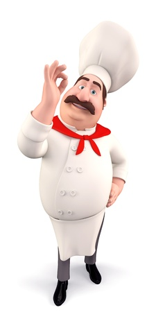 Funny chef with best luck photo