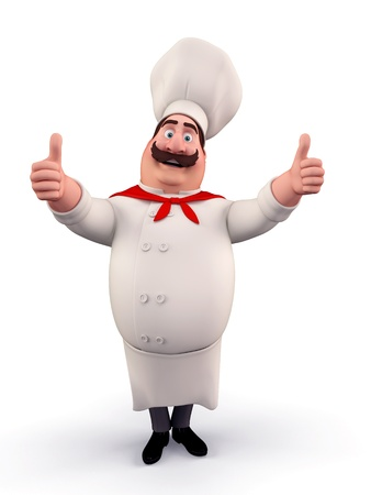 Happy chef with best luck