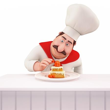 pasteles: Chef de pasteler�a decoraci�n