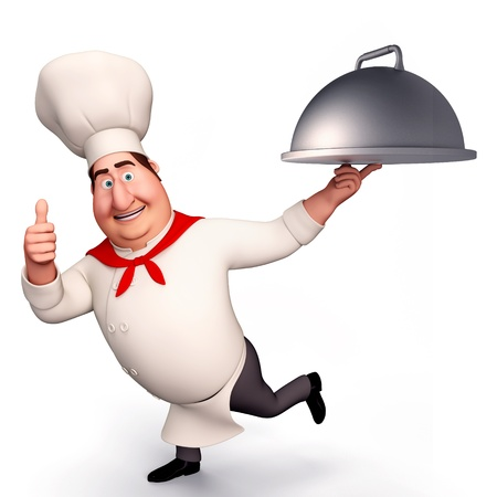 Chef with big bowl photo