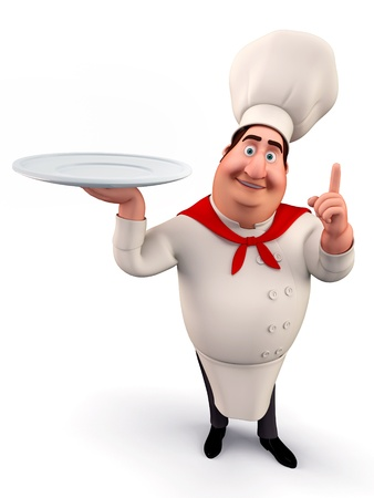 intern: Chef walking with dish