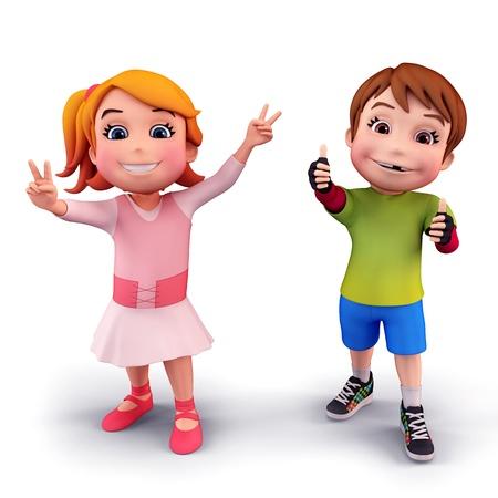 abacus: Szczęśliwe dzieci ze znakiem zwycięstwa
