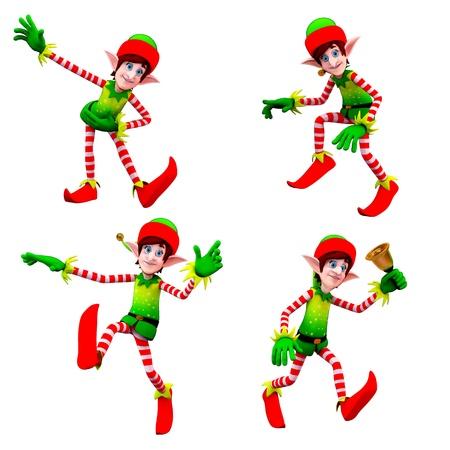 dancing elves Stock Photo