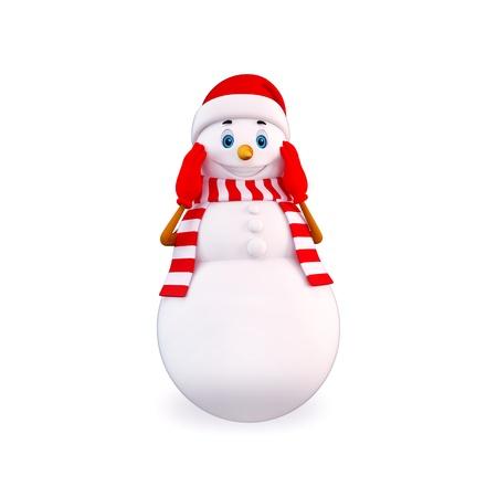 awaking: awaking snow man Stock Photo