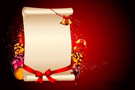 red background with stars and big sign and ribbon Stock Photo - 15142826