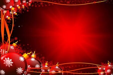 dark blue christmas background with jingle balls Stock Photo