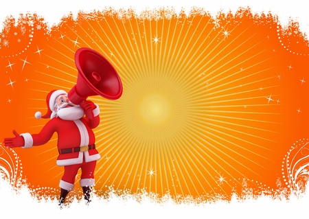 santa with loud speaker Stock Photo - 15243200