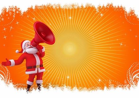 loud speaker: santa with loud speaker