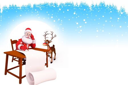 santa claus with big list photo