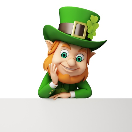 st patrick s day: Leprechaun for st  patrick s day with big sign