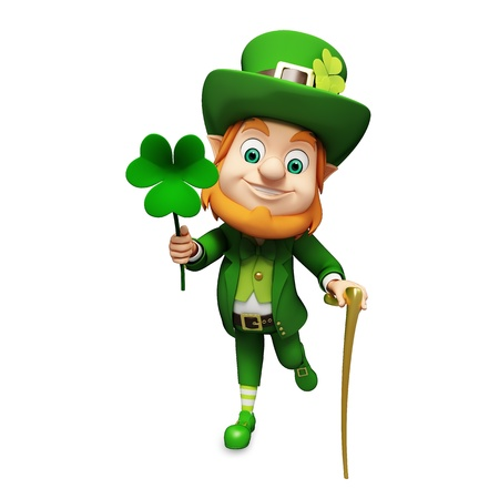 clover: Leprechaun for st patrick s day