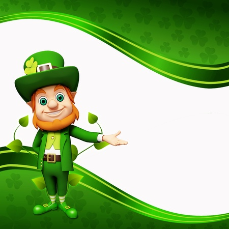 Leprechaun for st patrick day  photo