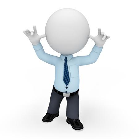 service man: 3d white peolple as service man