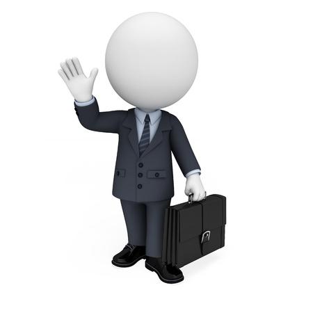 little business man: 3d gente blanca como hombre de negocios