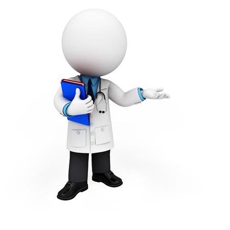 3d witte mensen als arts