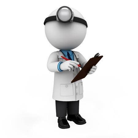 医師として 3 d の白い人 写真素材
