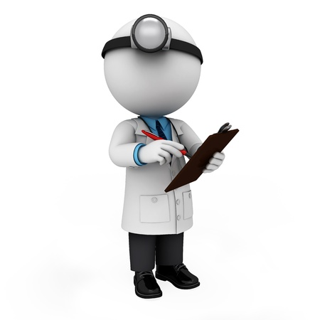 3d white people as doctor
