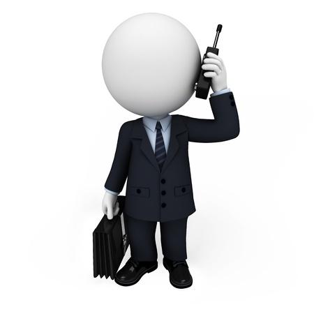 3d witte mensen als zakenman Stockfoto