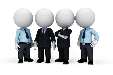 petit bonhomme: personnes blanches comme homme d'affaires avec l'homme de service