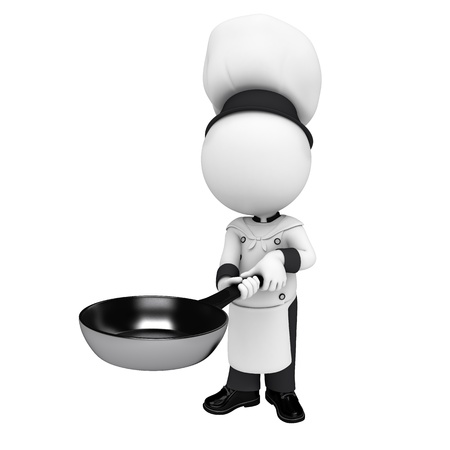 3d white people as chef photo