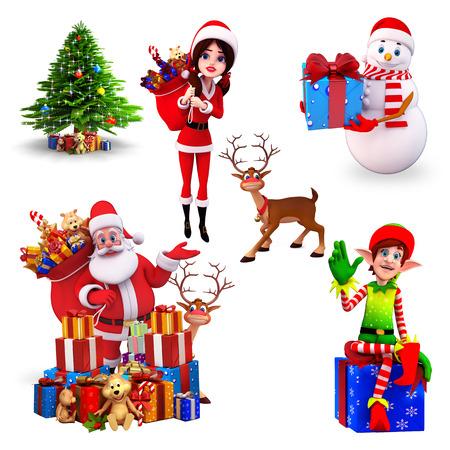 duendes de navidad: Elemento de la Navidad