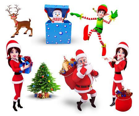 Christmas Design Set Banque d'images