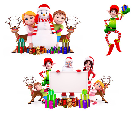Christmas Design Set Stock Photo