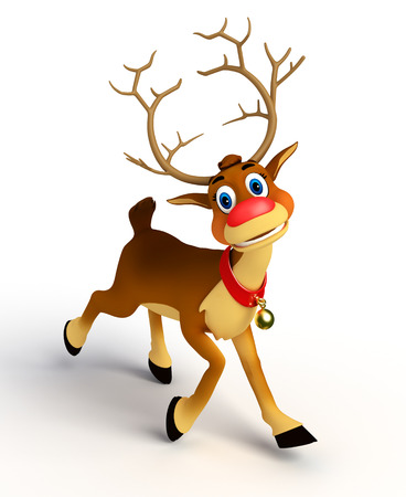 reindeer on blank background photo