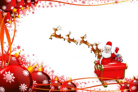sleigh: Santa claus with his sleigh
