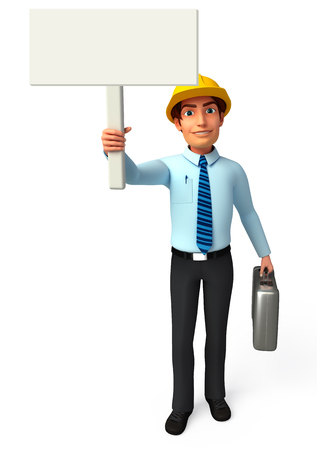Service man with sign photo