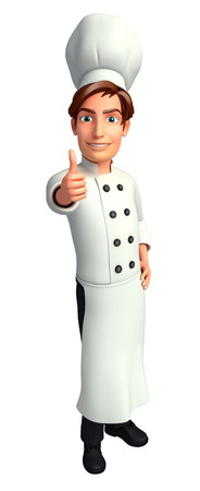 Chef on the blank background Stok Fotoğraf - 24359374