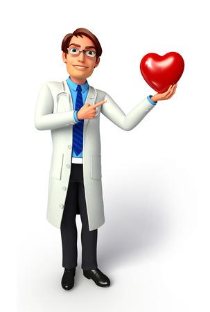 Arts met rood hart