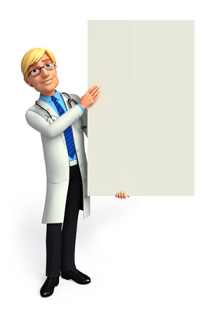 quot: Young Doctor with sign