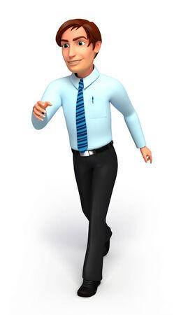 service man: Service man is running