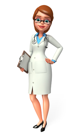 quot: Doctor with notepad Stock Photo