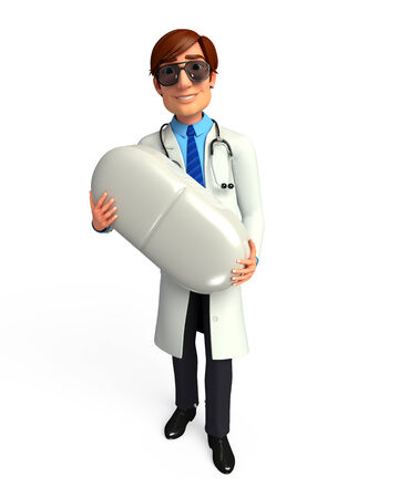 doctor tablet: Young Doctor with tablet