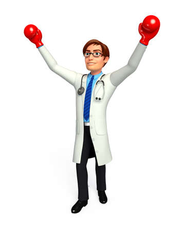 doctor gloves: Doctor with boxing gloves